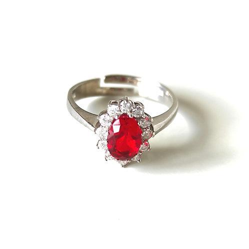 Anello pietra rossa