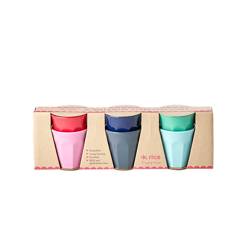 6 Bicchierini Caffè assortiti