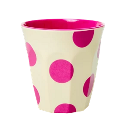 Bicchiere melamina Fuchsia Dots