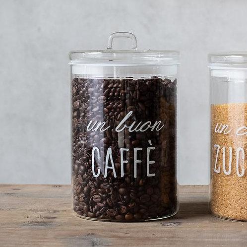 Barattolo vetro UN BUON CAFFE'