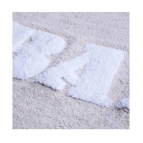 Tappeto BATH 50x80cm bianco/ecrù
