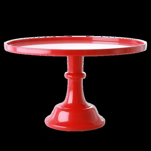 Alzata per torta in melamina rossa