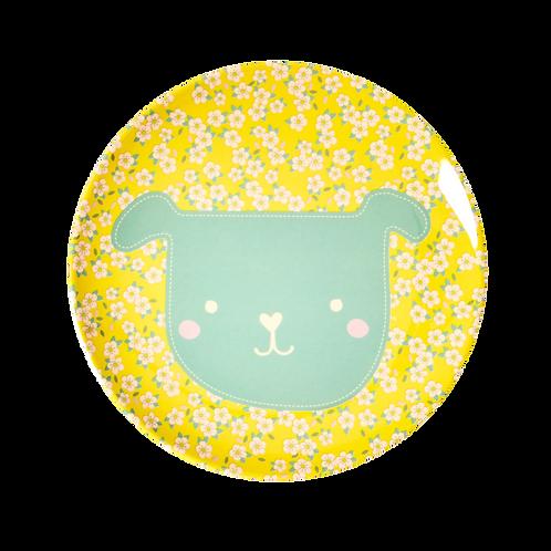Piatto piano fiorellini giallo