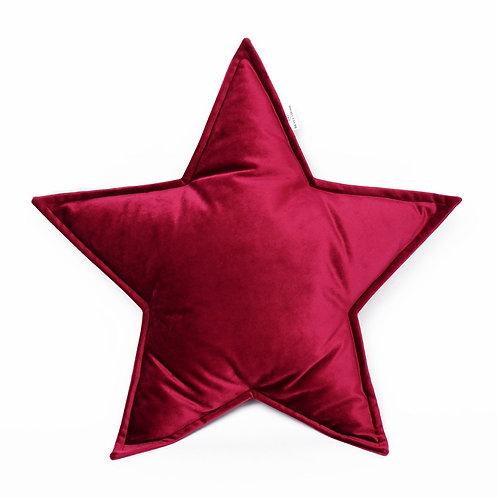 Cuscino Stella in Velluto Rosso