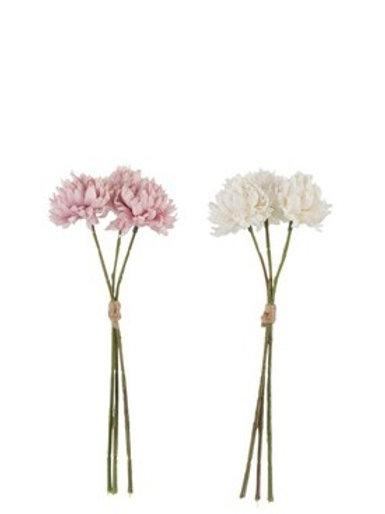 Mazzetto Crisantemi rosa/bianco