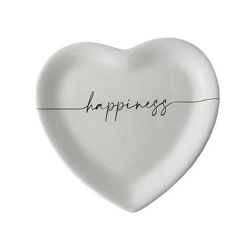 """Piatto cuore """"HAPPINESS"""""""