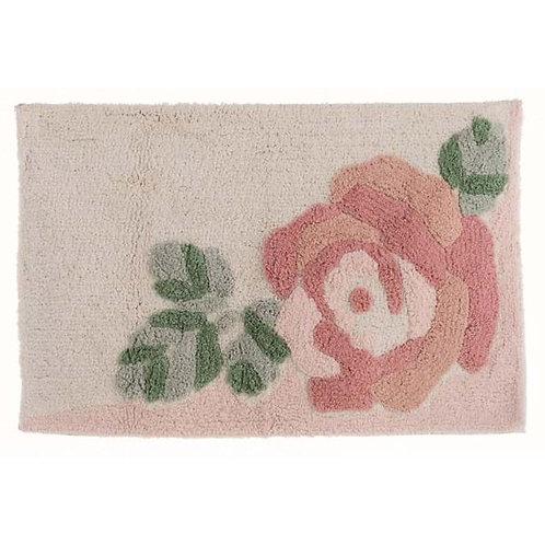 Tappetino con rosa
