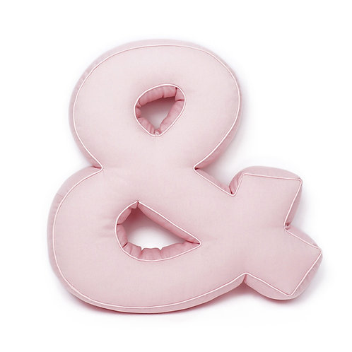 Cuscino Lettera in Cotone Rosa