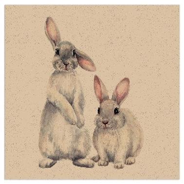 Tovagliolo Organics Conigli