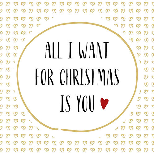 Tovaglioli WANT FOR CHRISTMAS IS YOU