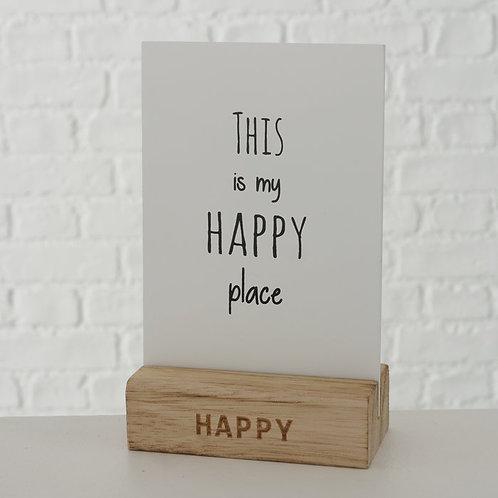 Quadretto da tavolo HAPPY PLACE