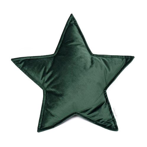 Cuscino Stella in Velluto Verde