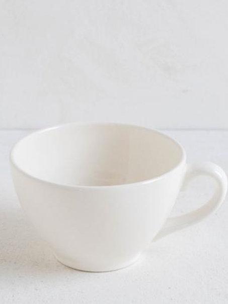 Tazza latte in ceramica bianco burro