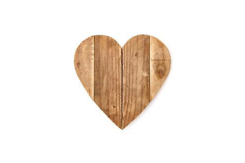 Cuore legno grande