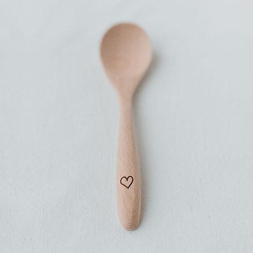 Cucchiaino legno cuoricino
