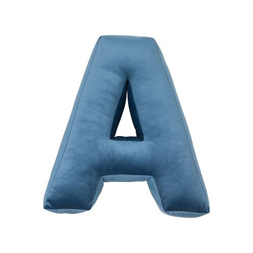Copia di Cuscino Lettera in Velluto Blue