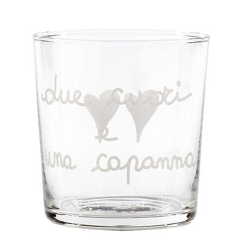 Bicchieri DUE CUORI E UNA CAPANNA