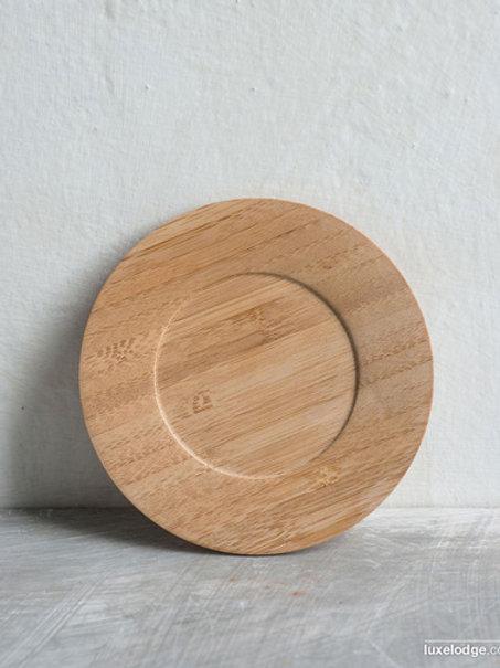 Piatto per tazze in legno di bamboo