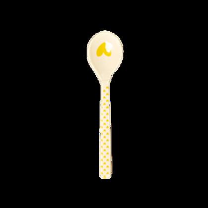 Cucchiaino caffé cuore giallo