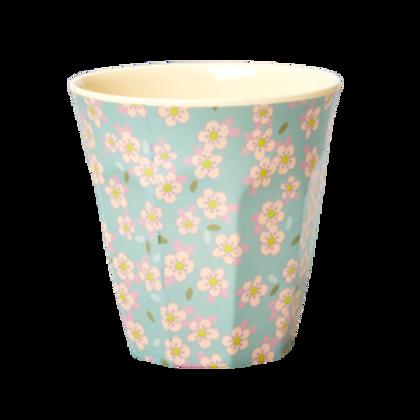 Bicchiere melamina Small Flower celeste
