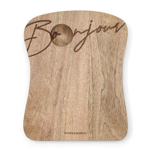 Piatto in legno Bonjour