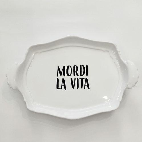 """Vassoio Vintage """"MORDI LA VITA"""""""