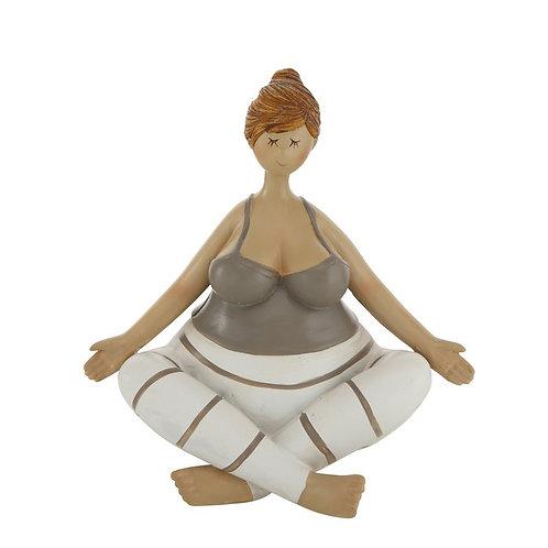 Statuina Yoga gambe incrociate