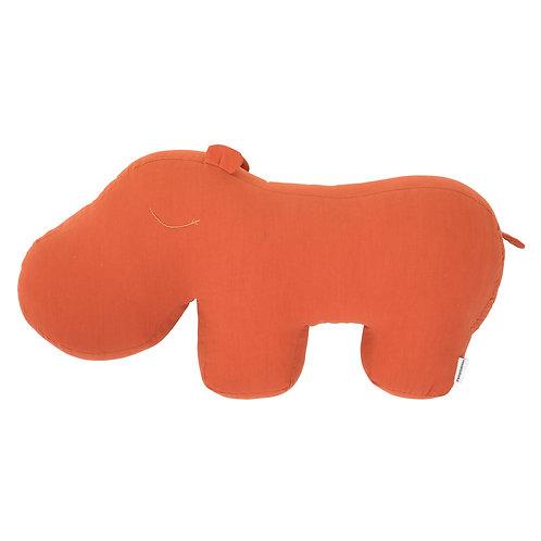 Cuscino HIPPO in Cotone Corallo