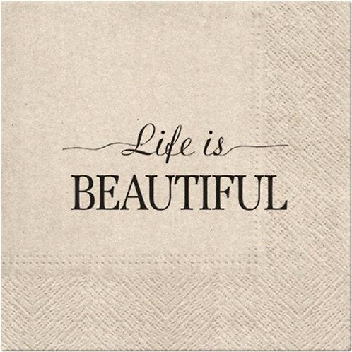 Tovagliolini carta LIFE IS BEAUTIFUL