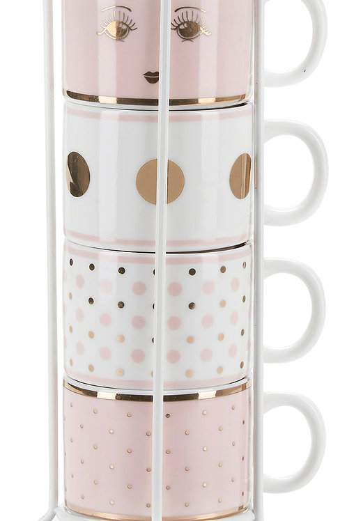Tazzine da caffè in rack
