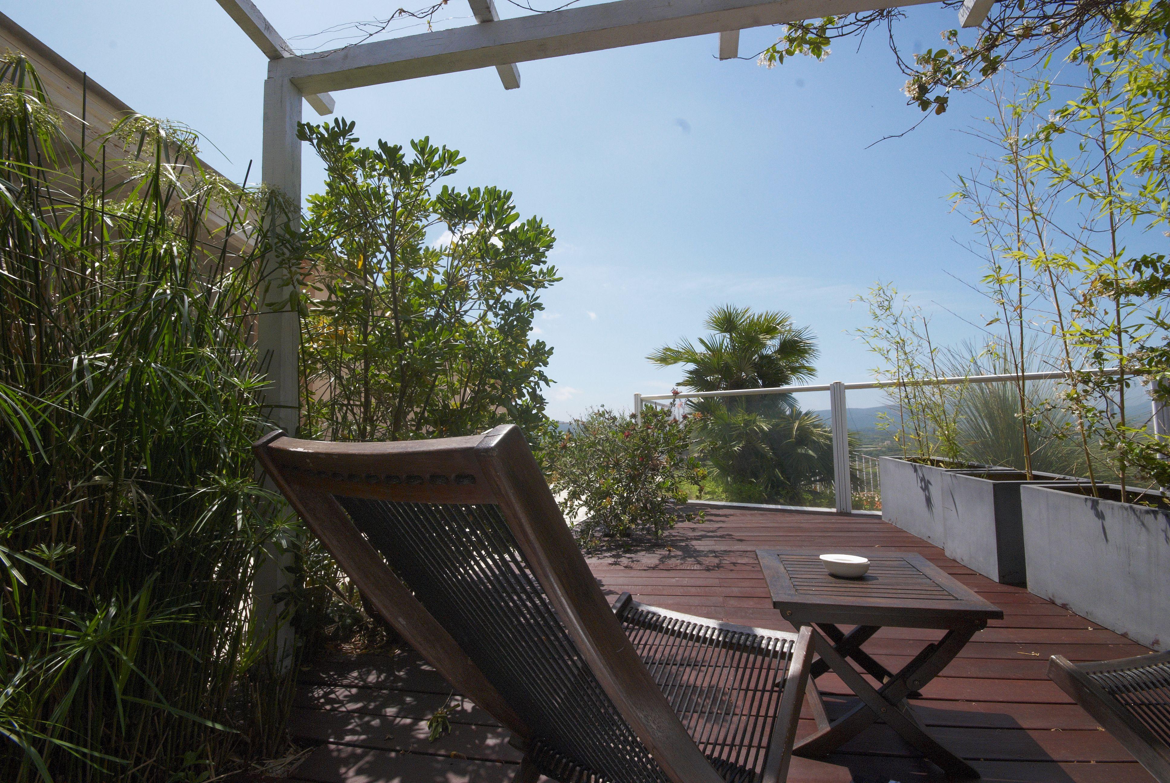 Terrasse privée_chambre dhote Mimosa