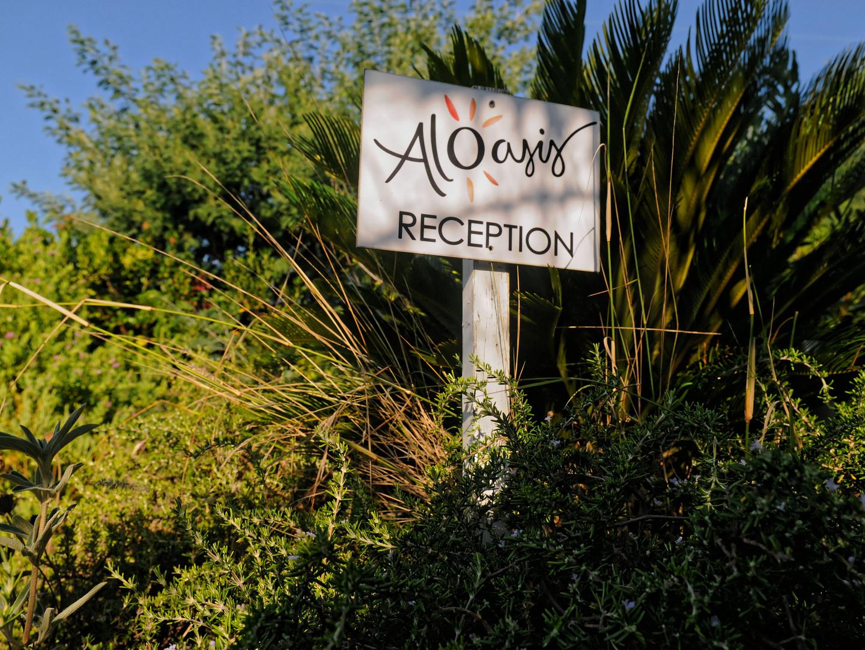 Panneau d'accueil Aloasis
