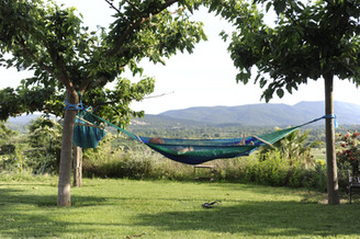 jardin Aloasis avec hamacs