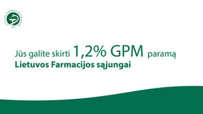 Kviečiame skirti 1.2% GPM Lietuvos farmacijos sąjungai