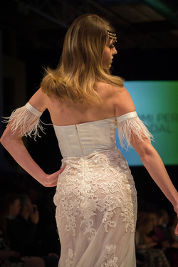 Sheer Skirt Lace Wedding Dress