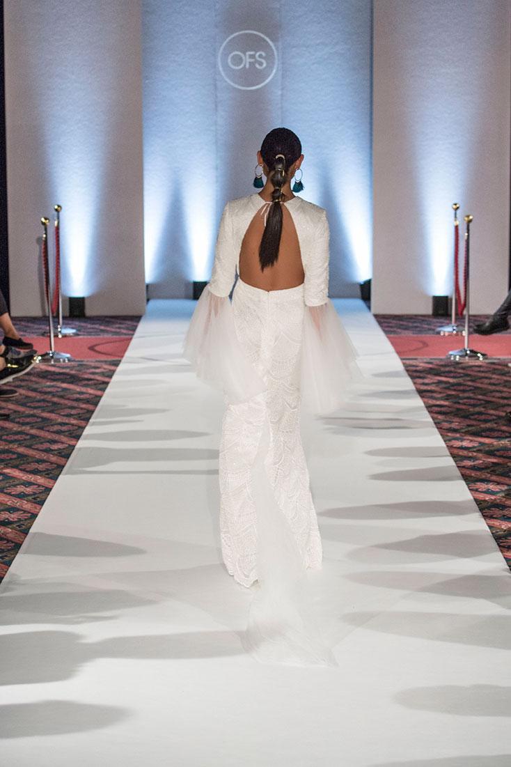 Tulle Lace Open back Wedding Dress