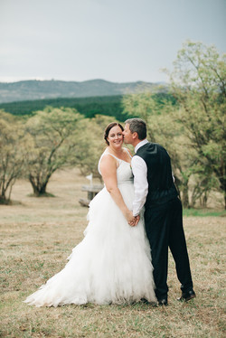Lace Tulle Wedding Gown with Straps