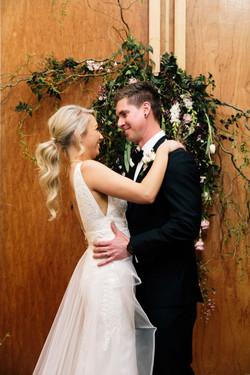 V neck lace wedding dress