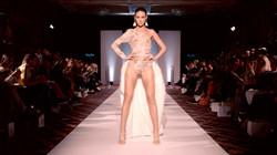 Lace Fur bodysuit Wedding Dress