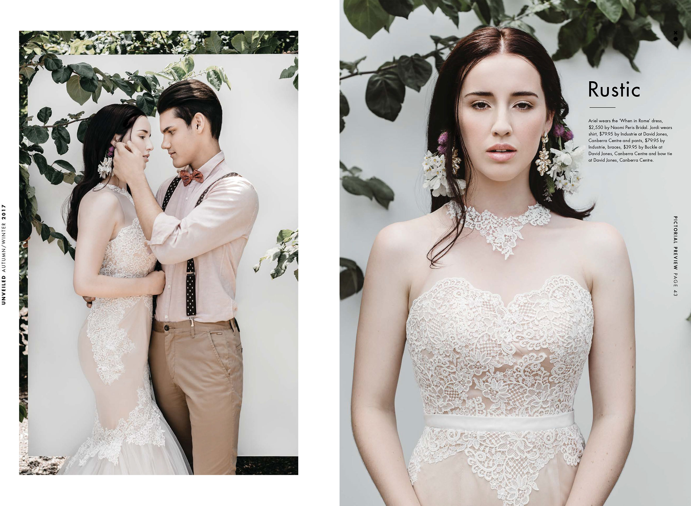 Nude Lace Naomi Peris Wedding Gown