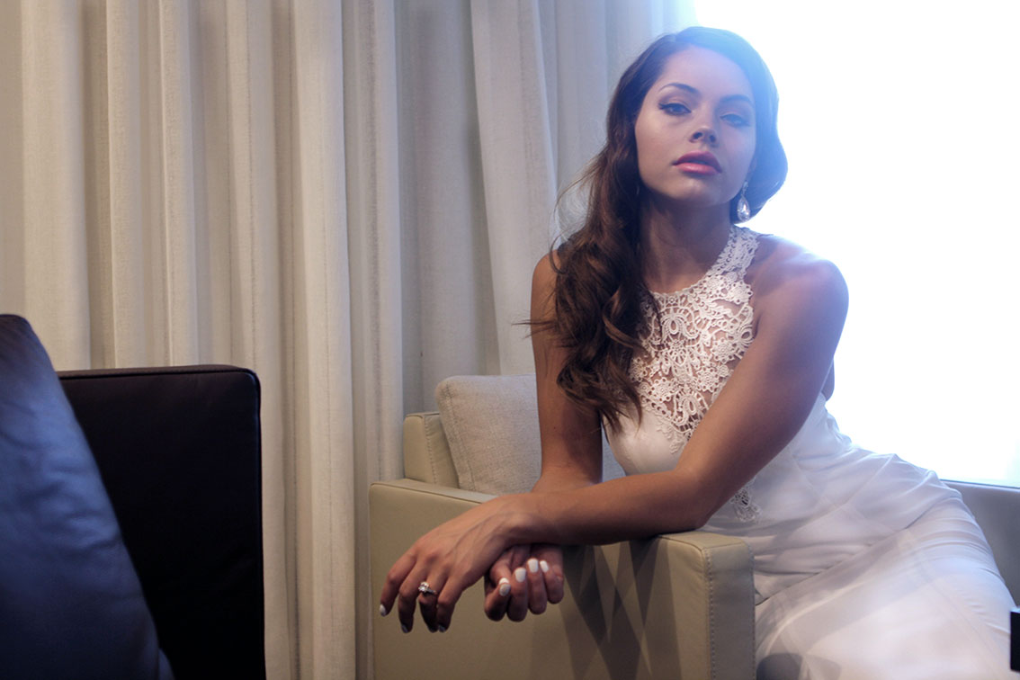 High Neck Lace Wedding Dress