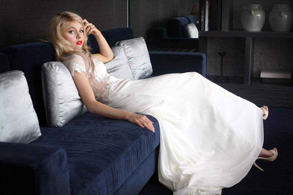 Polka Dot Lace Wedding Dress