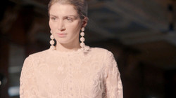 Beaded Lace Sheer Wedding Dress
