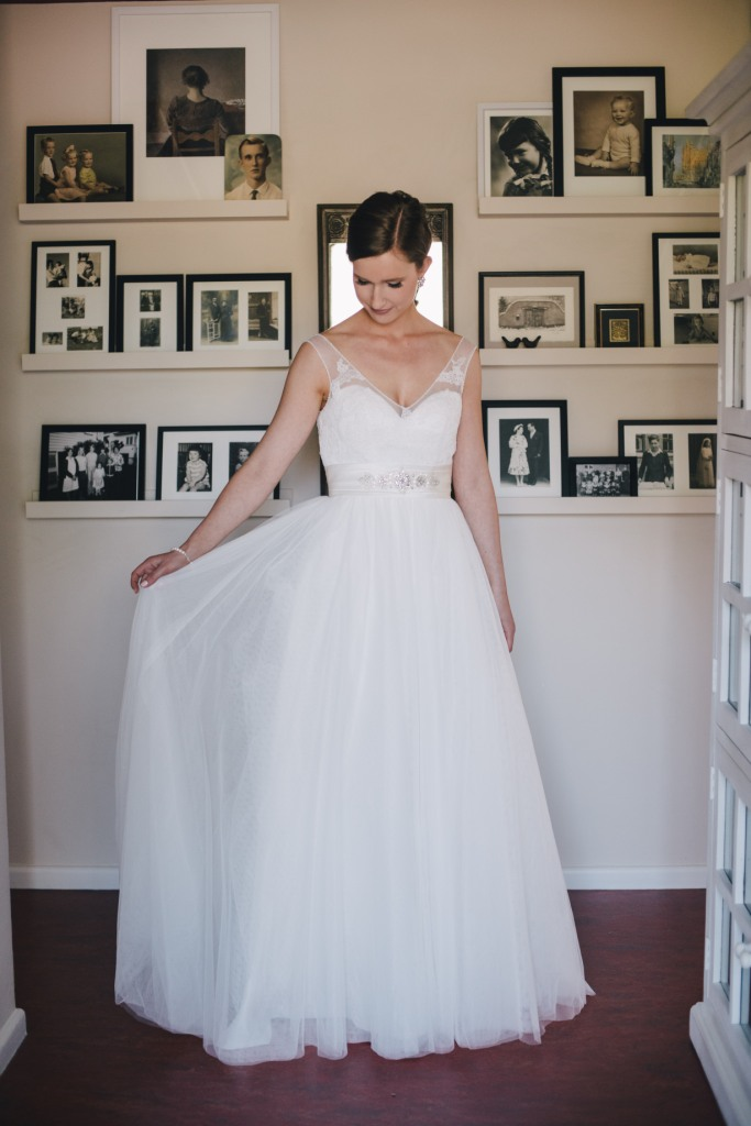 Tulle Lace Aline Wedding Dress