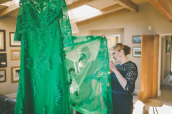 Green Lace Wedding Dress