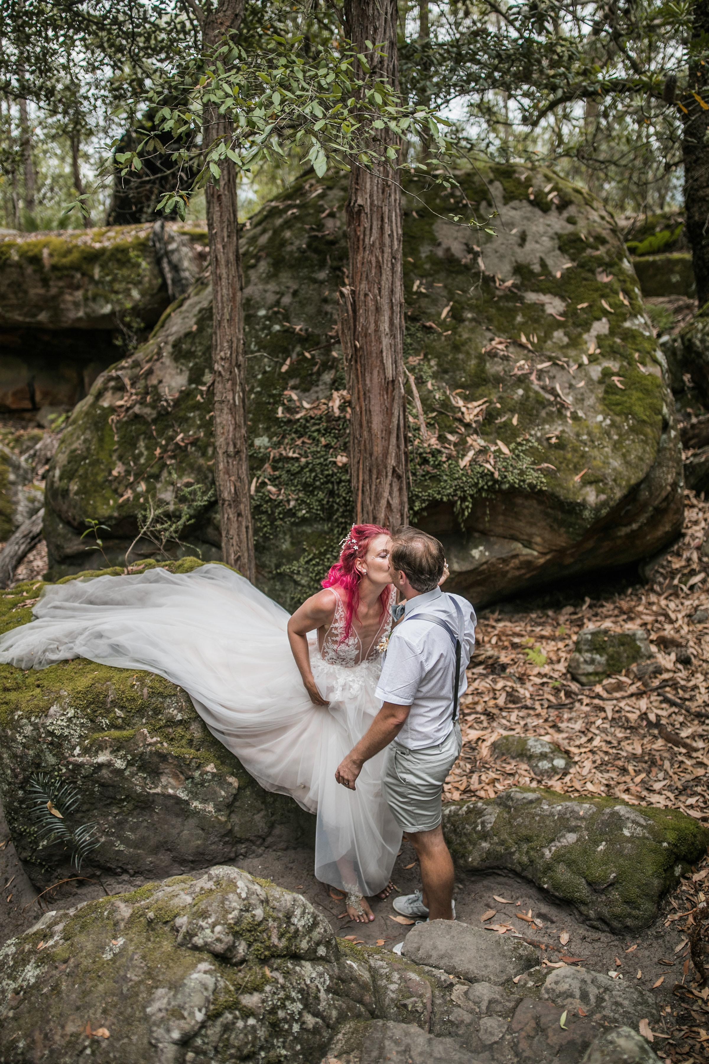 Custom tulle lace wedding dress
