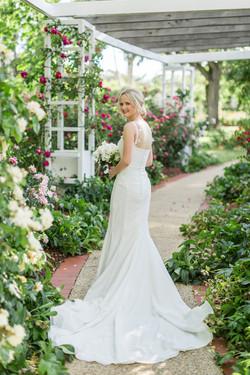 Custom designed lace wedding dress