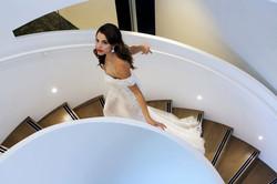 Off shoulder Sheer Wedding Dress