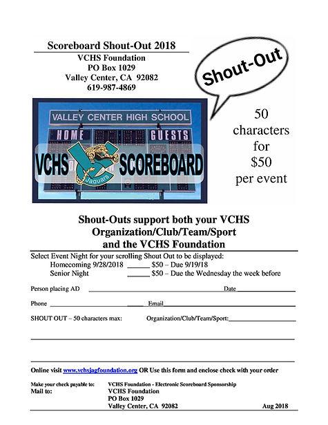 VCHS ShoutOut Scoreboard Ad FORM 2018 Au