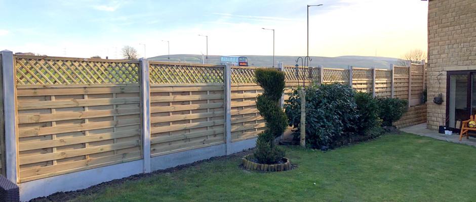 Concrete Post Fencing